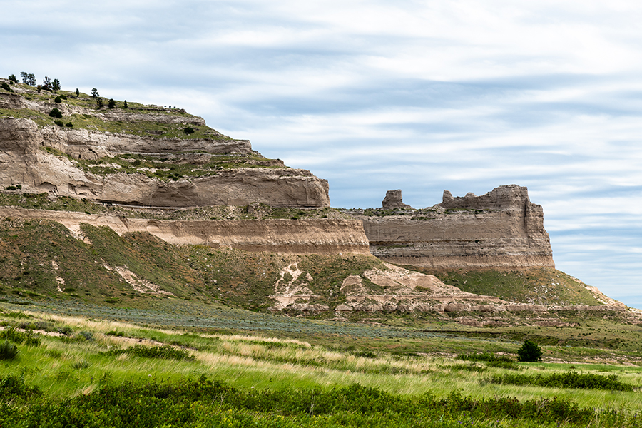 Like a Book – Striations and layers of rock expose the history of the Scotts Bluff National Monument. Each layer is a record of the history of the lands formation and erosion.