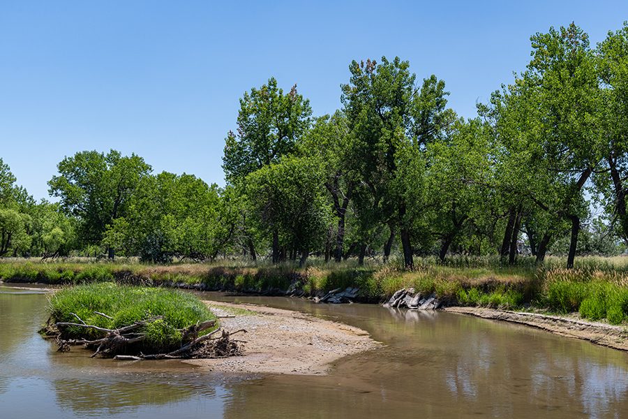 Location of De Smet (Black robes) campsite south of Horse Creek during the signing of The Horse Creek Treaty of 1851.  - Morill, Nebraska July 12, 2020. - Expedition photograph by © 2020 Hawk Buckman