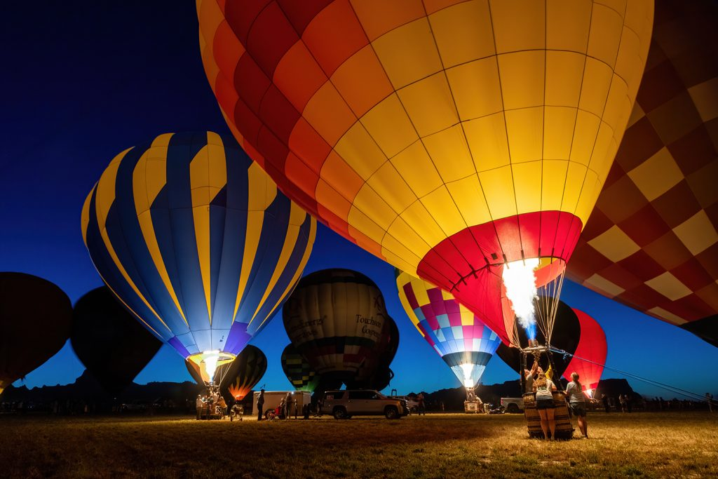 Old West balloon Fest 2020 Night Glow
