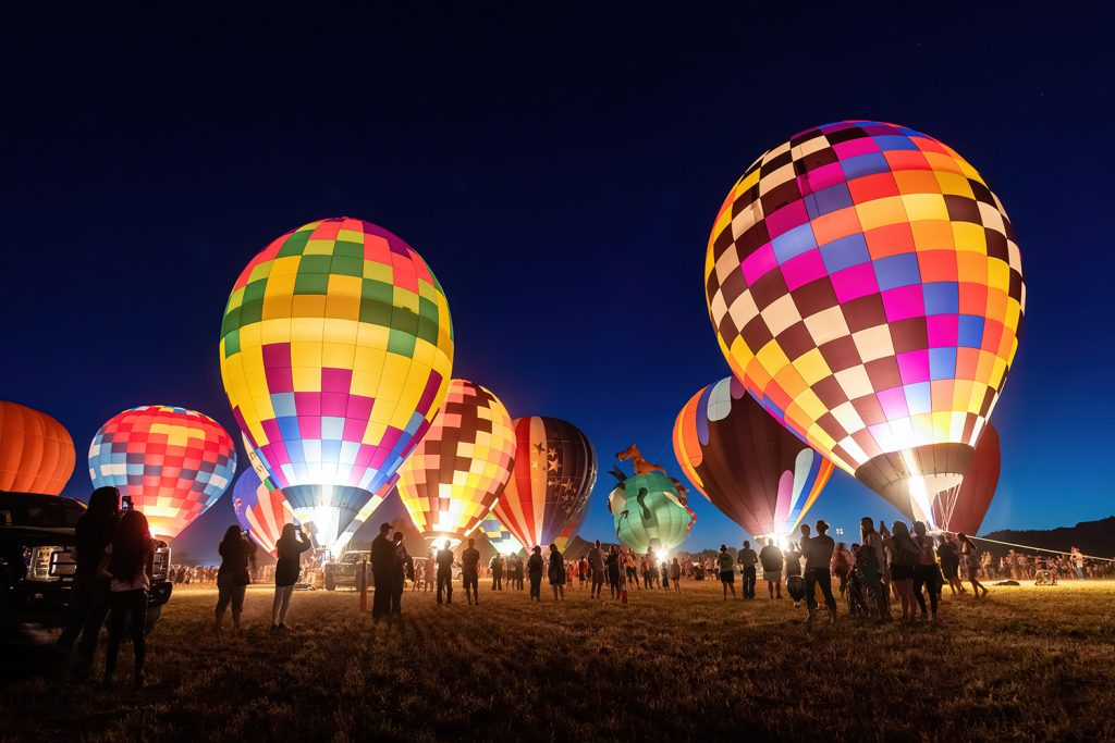Old West Balloon Fest Night Glow.  Photo: Hawk Buckman